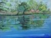 Tableau reflets lac mimizan